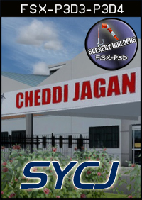 FSXCENERY - SYCJ CHEDDI JAGAN INTERNATIONAL AIRPORT FSX P3D
